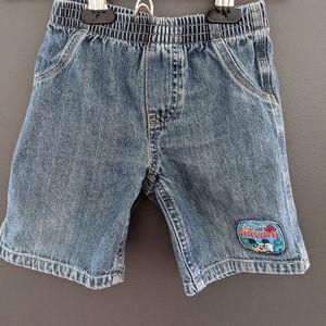 Disney Mickey Mouse Hawaii denim jean shorts